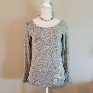 by & by Long Sleeve Sweater Tunic